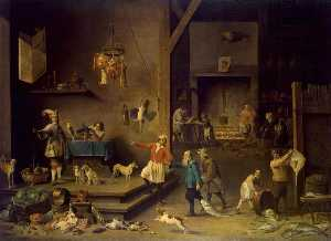 David The Younger Teniers - The Kitchen