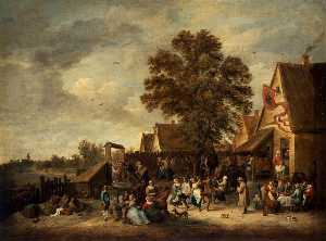 David The Younger Teniers - The Village Feast