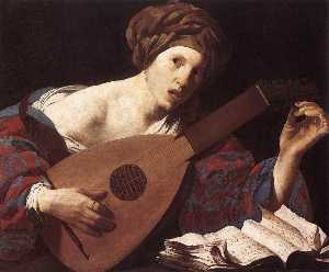 Hendrick Terbrugghen - Woman Playing the Lute