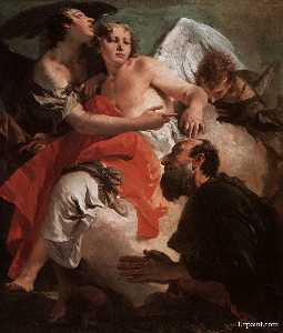 Giovanni Battista Tiepolo - Abraham Praying before the Three Angels