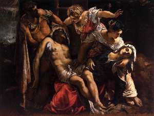 Tintoretto (Jacopo Comin) - Lamentation over the Dead Christ