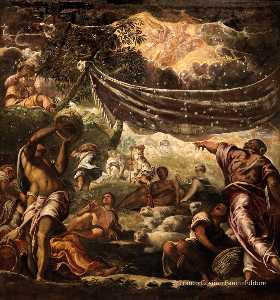 Tintoretto (Jacopo Comin) - The Miracle of Manna