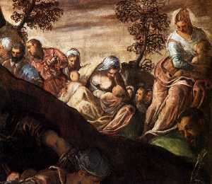 Tintoretto (Jacopo Comin) - The Miracle of the Loaves and Fishes (detail)