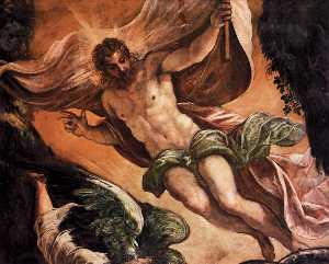 Tintoretto (Jacopo Comin) - The Resurrection of Christ (detail)