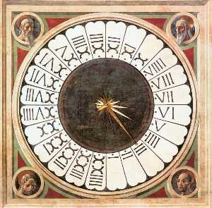Paolo Uccello - Clock with Heads of Proph..
