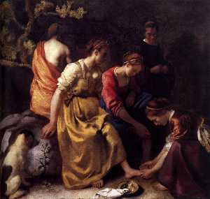 Jan Vermeer - Diana and her Companions