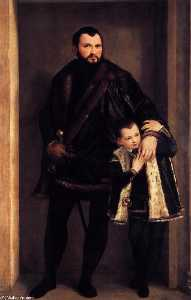 Paolo Veronese - Portrait of Count Giuseppe da Porto with his Son Adriano