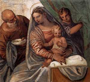 Paolo Veronese - The Holy Family (Madonna ..
