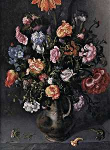 Jacob Woutersz Vosmaer - A Vase with Flowers