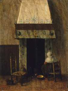 Jacobus Vrel - An Old Woman by a Fireplace