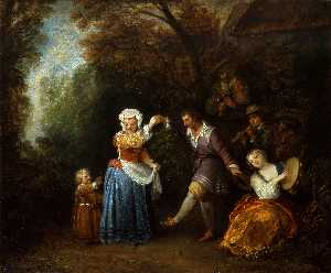 Jean Antoine Watteau - The Country Dance
