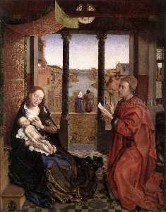 Rogier Van Der Weyden - St Luke Drawing a Portrait of the Madonna