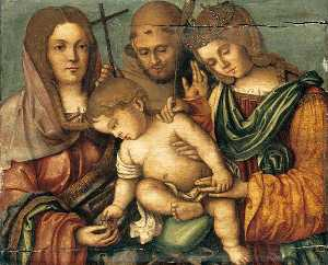Francesco Di Bosio Zaganelli - The Christ Child between Sts C..