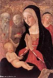 Francesco Di Giorgio Martini - Madonna and Child with Saints and Angels