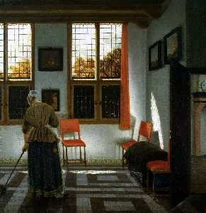 Pieter Janssens Elinga - Room in a Dutch House