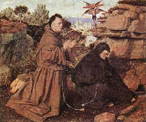 Jan Van Eyck - Stigmatization of St Fran..