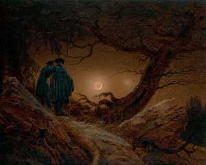 Caspar David Friedrich - Two Men Contemplating the..