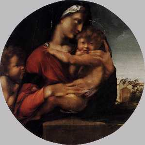 Alonso Gonzalez De Berrug.. - Madonna and Child with th..