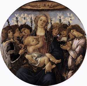 Sandro Botticelli - Madonna and Child with Eight Angels