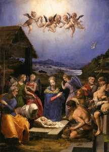 Agnolo Bronzino - Adoration of the Shepherds