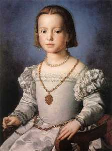 Agnolo Bronzino - Bia, The Illegitimate Dau..