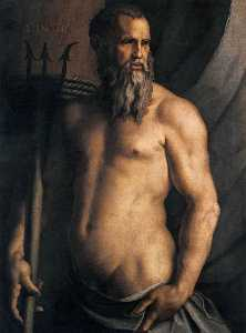 Agnolo Bronzino - Portrait of Andrea Doria as Neptune