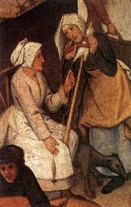 Pieter Bruegel The Younge.. - Proverbs (detail) (17)