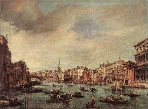 Giovanni Antonio Canal (C.. - Grand Canal: The Rialto B..