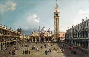 Giovanni Antonio Canal (C.. - Piazza San Marco with the..