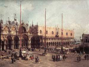 Giovanni Antonio Canal (C.. - Piazza San Marco: Looking..