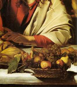 Caravaggio (Michelangelo Merisi) - Supper at Emmaus (detail) (17)