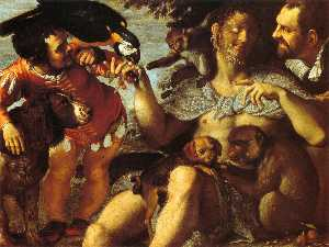 Agostino Carracci - Hairy Harry, Mad Peter and Tiny Amon