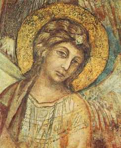 Cimabue - Madonna Enthroned with th..