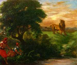 Eugène Delacroix - The Lion Hunt