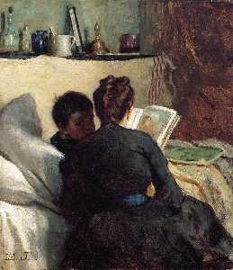 Jonathan Eastman Johnson - The Little Convalescent
