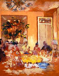 Jean Edouard Vuillard - Luncheon at Les Clayes