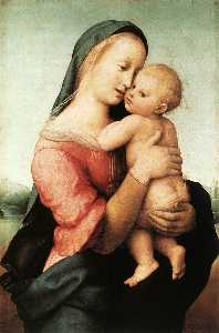 Raphael (Raffaello Sanzio Da Urbino) - Madonna and Child (The Tempi Madonna)