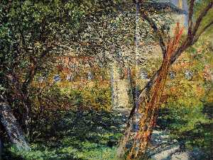 Claude Monet - Monet's Garden at Vetheui..