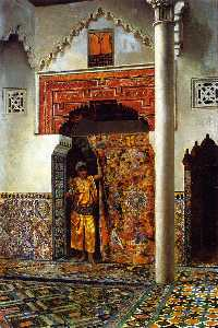 Edwin Lord Weeks - A Moorish Interior