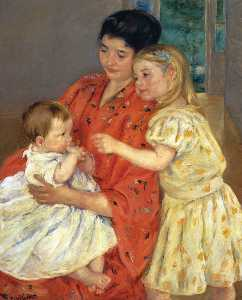 Mary Stevenson Cassatt - Mother and Sara Admiring ..