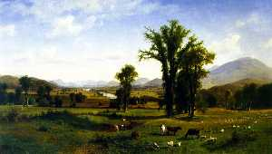 Albert Bierstadt - Mount Ascutney from Clare..