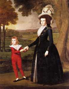 Ralph Earl - Mrs. William Moseley and Her Son Charles