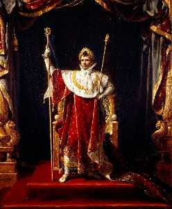 Jacques Louis David - Napoleon I in His Imperia..