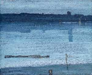 James Abbott Mcneill Whis.. - Nocturne: Blue and Silver..