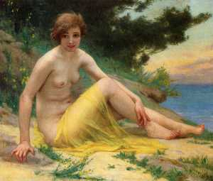 Guillaume Seignac - Nude at the Beach (also known ..