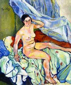 Suzanne Valadon - Nude Seated on a Bed