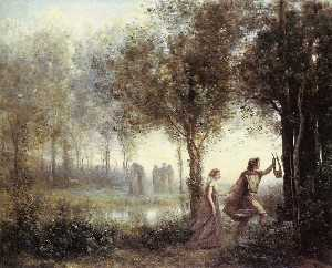 Jean Baptiste Camille Corot - Orpheus Leading Eurydice from the Underworld
