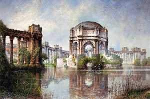 Edwin Deakin - Palace of Fine Arts and the Lagoon