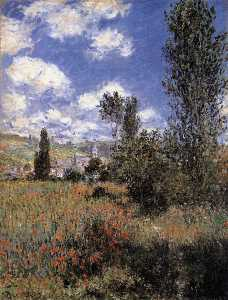 Claude Monet - Path in the Ile Saint-Martin, Vetheuil (also known as t)