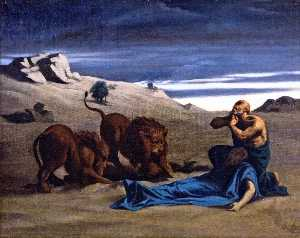 Alexandre Cabanel - Paul the First Hermit with Lions